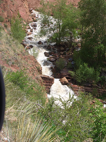 Mountain Base waterfall in Manitou Springs, CO near Pike's Peak