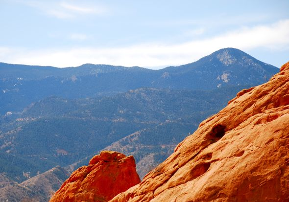 Cameron Cone Mountain as seen from Garden of the Gods, Colorado Springs, CO