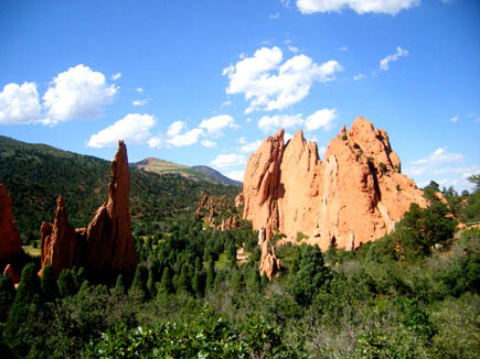 Overlooking Garden of the Gods in Colorado Springs, Colorado